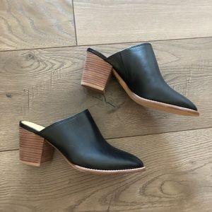 Madewell. Harper Mule. Black Leather.
